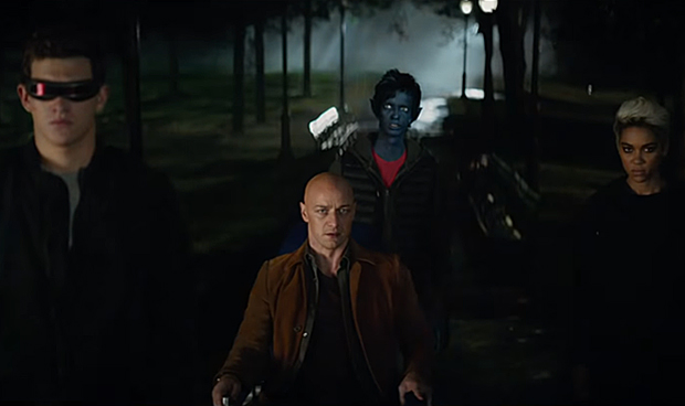 X-Men: Dark Phoenix - Cyclops, Charles Xavier, Nightcrawler, and Storm