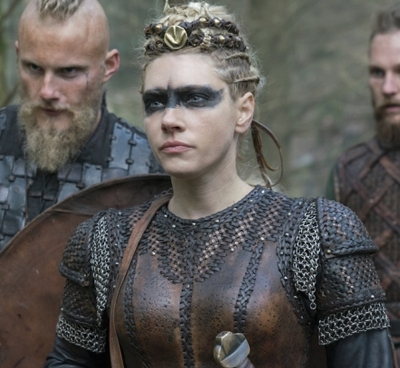 Alexander Ludwig, Katheryn Winnick and Jordan Patrick Smith in History's Vikings.