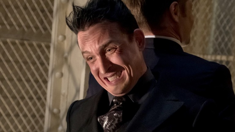 Robin Lord-Taylor as Penguin in Gotham Season 5 Episode 3