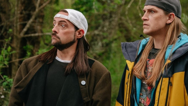 Kevin Smith and Jason Mewes as Jay and Silent Bob