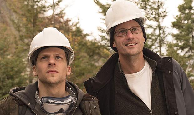 Jesse Eisenberg and Alexander Skarsgard in The Hummingbird Project