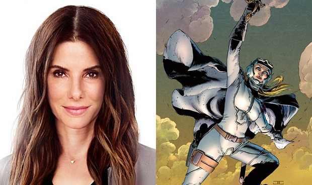 Sandra Bullock in Ocean's 8 and a cover from Image Comics' Reborn