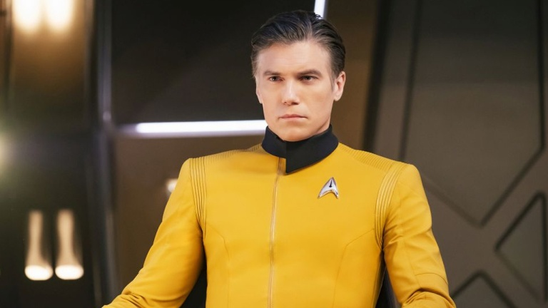 Anson Mount as Captain Pike on Star Trek: Discovery Season 2