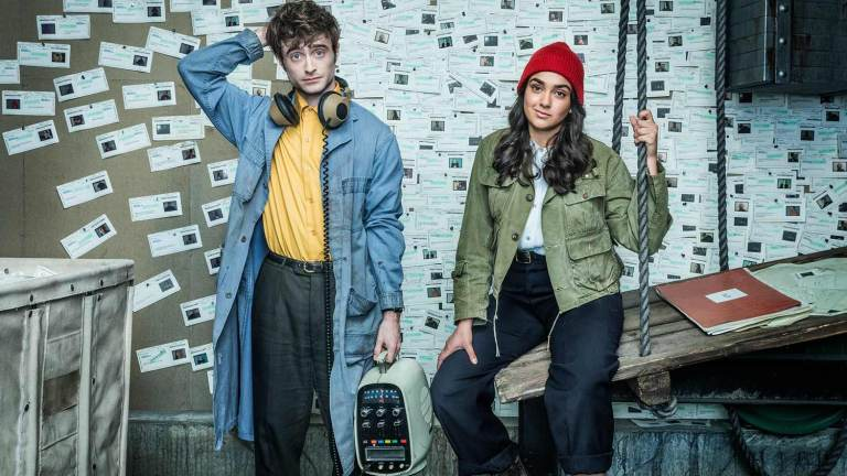 Daniel Radcliffe and Geraldine Viswanatha star in the TBS comedy Miracle Workers.