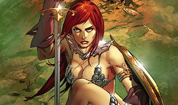 Red Sonja: Unchained #1 Cover by Mel Rubi, Dynamite Comics