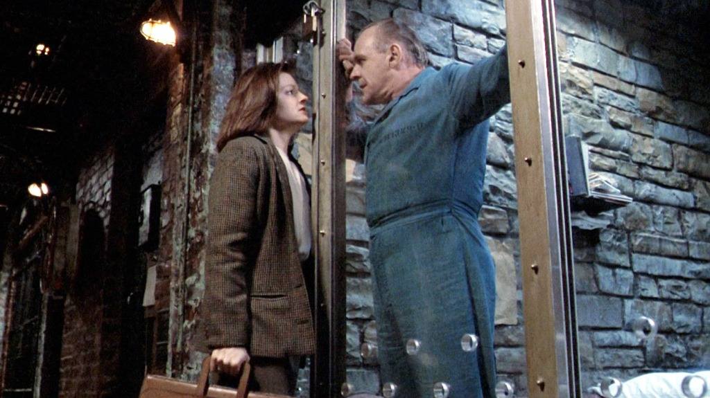 Jodie Foster and Anthony Hopkins in Silence of the Lambs