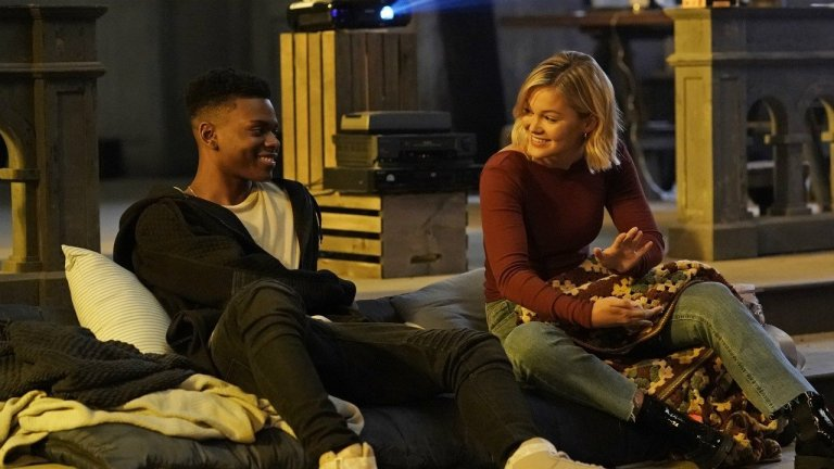 Aubrey Joseph and Olivia Holt in Cloak and Dagger Season 2