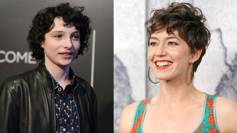 Ghostbusters 3 Cast - Finn Wolfhard and Carrie Coon