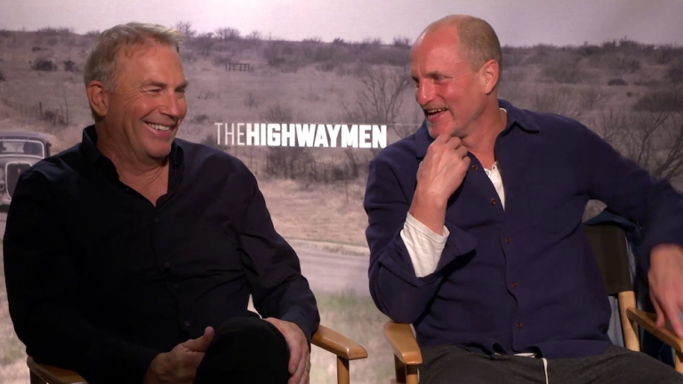 Kevin Costner and Woody Harrelson The Highwaymen Interview