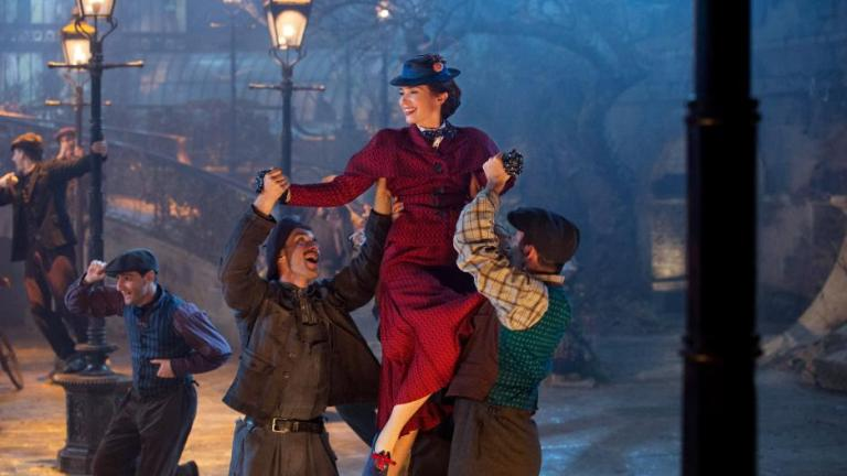 Mary Poppins Returns: Emily Blunt and Lamplighters