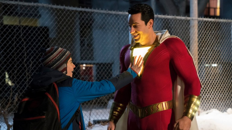 Jack Dylan Grazer and Zachary Levi star in Shazam!