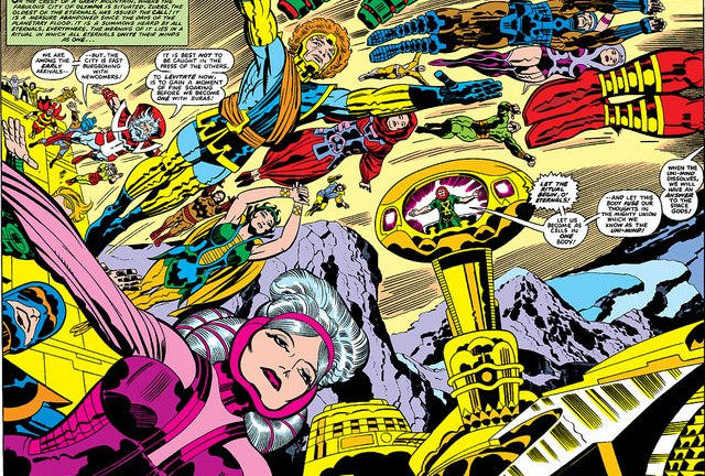Marvel's The Eternals Movie art by Jack Kirby