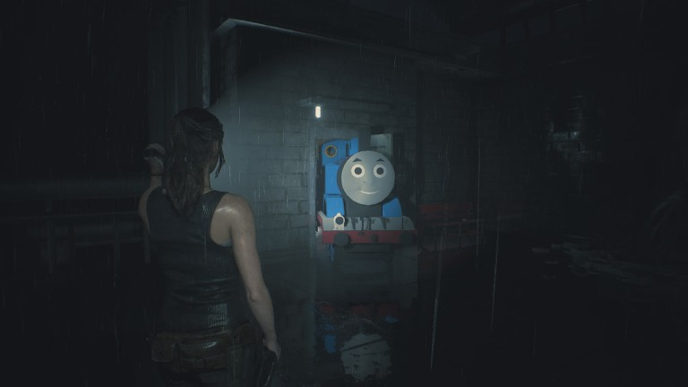 Thomas the Tank Engine Resident Evil 2 Mod