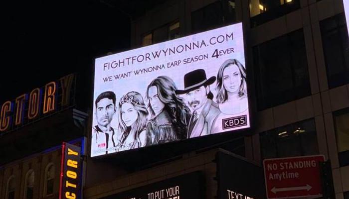 Wynonna Earp Times Square Billboard