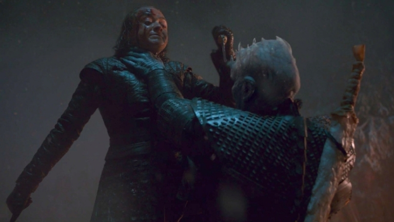 Arya Stark going in for the kill on the Night King