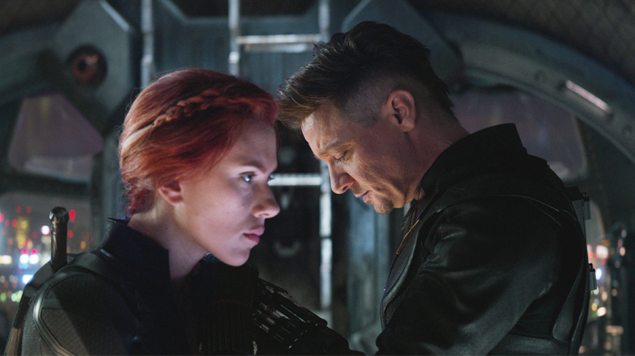 Hawkeye and Black Widow in Avengers: Endgame