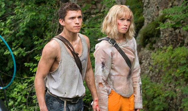 Tom Holland and Daisy Ridley on the set of Chaos Walking; Lionsgate