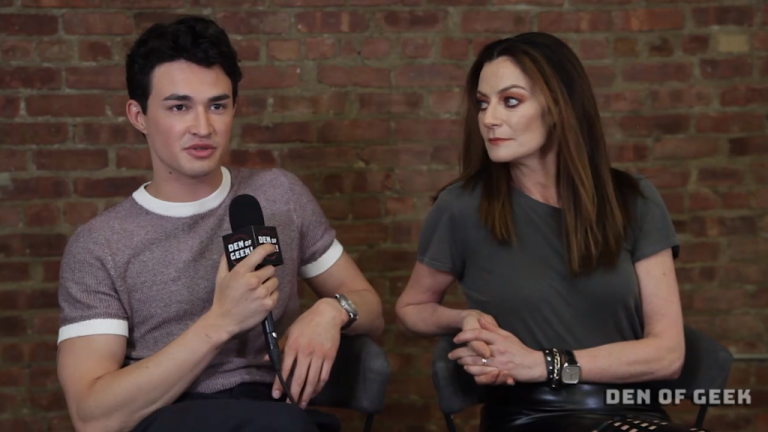 Chilling Adventures of Sabrina: Michelle Gomez and Gavin Leatherwood