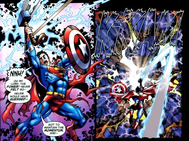 Captain America Using Mjolnir Comic