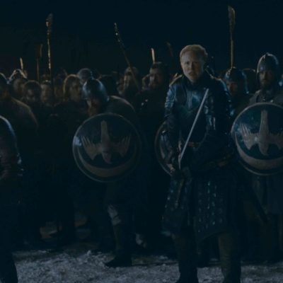 Brienne of Tarth and Jaime Lannister before The Battle of Winterfell