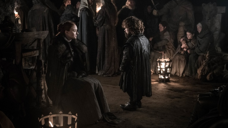 Sansa and Tyrion in Game of Thrones Season 8 Episode 3