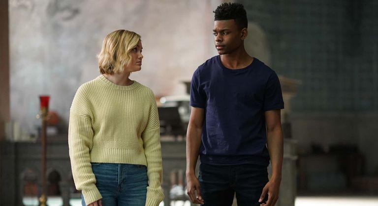 Olivia Holt and Aubrey Joseph in Cloak and Dagger
