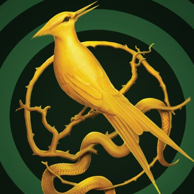 Hunger Games prequel poster, feather; Scholastic Press
