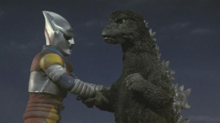 Godzilla and Jet Jaguar on MST3K Mystery Science Theater 3000