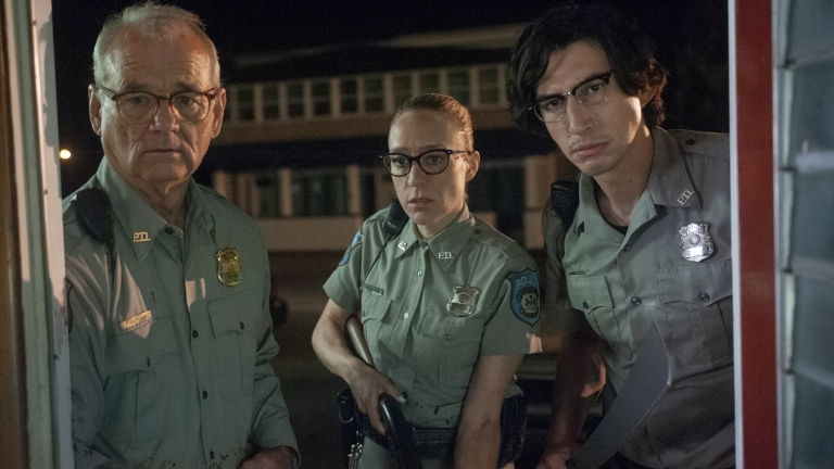Bill Murray Chloe Sevigny and Adam Driver in The Dead Don't Die