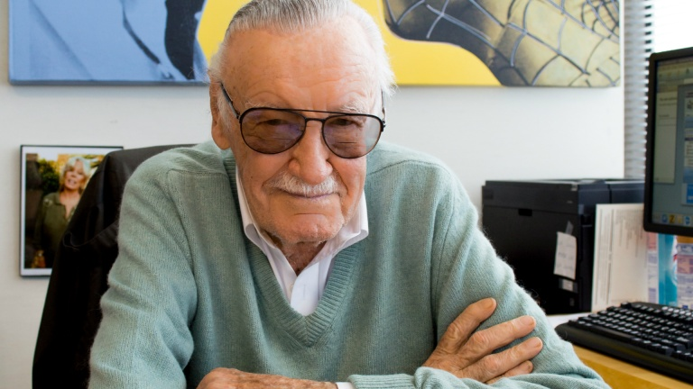 Stan Lee and Spidey image