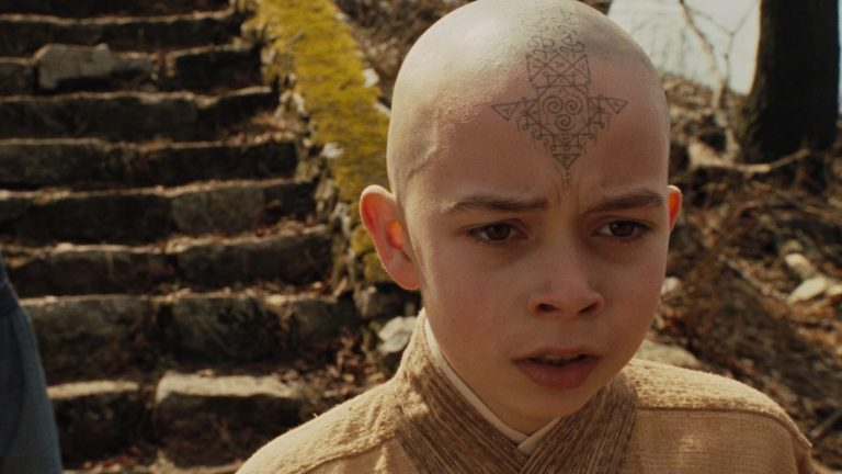 Aang in The Last Airbender Live Action Movie