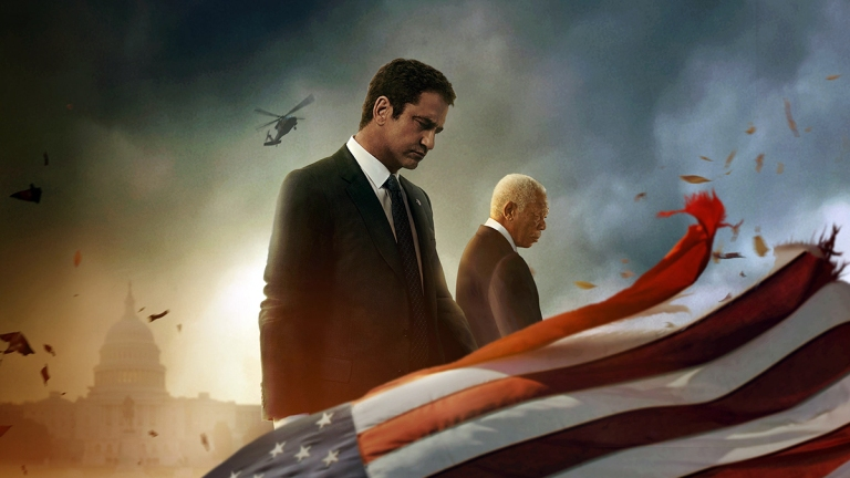 A Cropped Section Of The Angel Has Fallen Poster