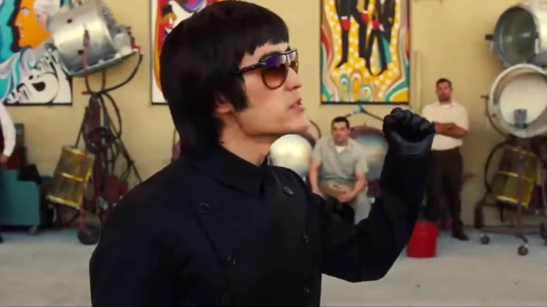 Mike Moh as Bruce Lee in Quentin Tarantino's Once Upon a Time in Hollywood
