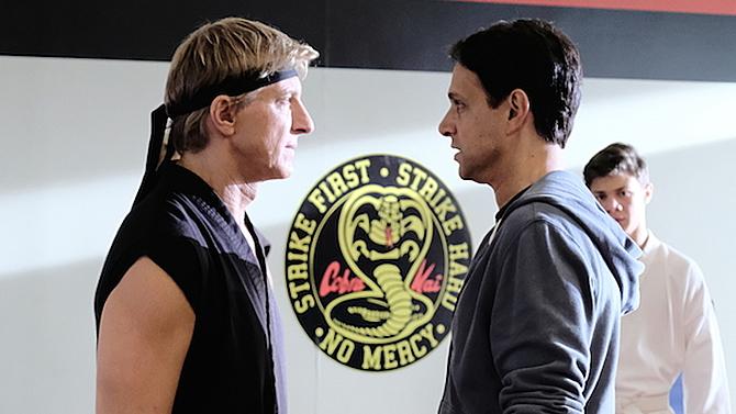 William Zabka and Ralph Macchio on Cobra Kai; YouTube Premium