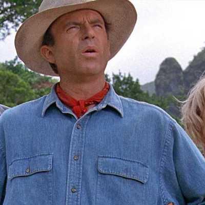 Jeff Goldblum, Sam Neill and Laura Dern in Jurassic Park