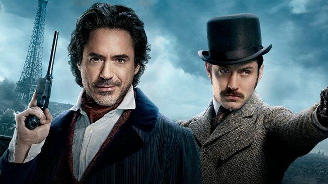 Robert Downey Jr. and Jude Law in Sherlock Holmes 3