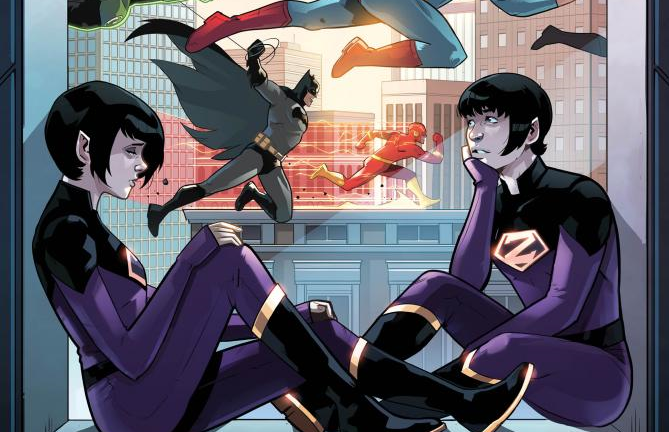 Wonder Twins #7 Preview Cover (Textless)
