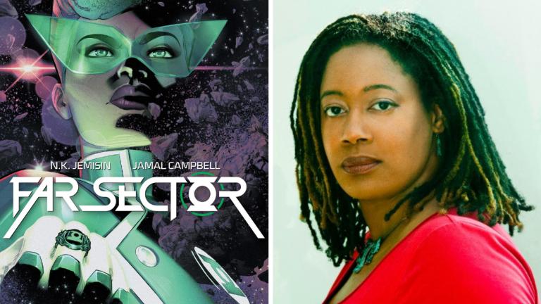 The Cover of Comic Far Sector and Author N.K. Jemisin