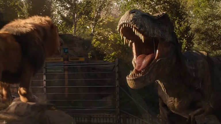 Lion vs. T-Rex in Jurassic World: Fallen Kingdom