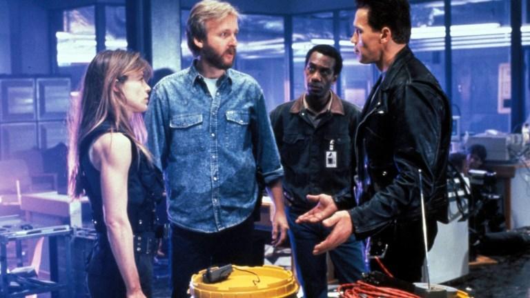 Linda Hamilton and Arnold Schwarzenegger in The Terminator 2