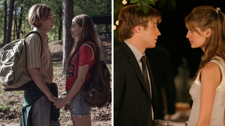 Charlie Plummer and Kristine Froseth in Looking For Alaska, Ben Mackenzie and Misha Barton in The O.C.