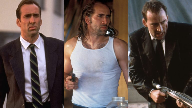 Nicolas Cage in The Rock, Con Air, and Face/Off