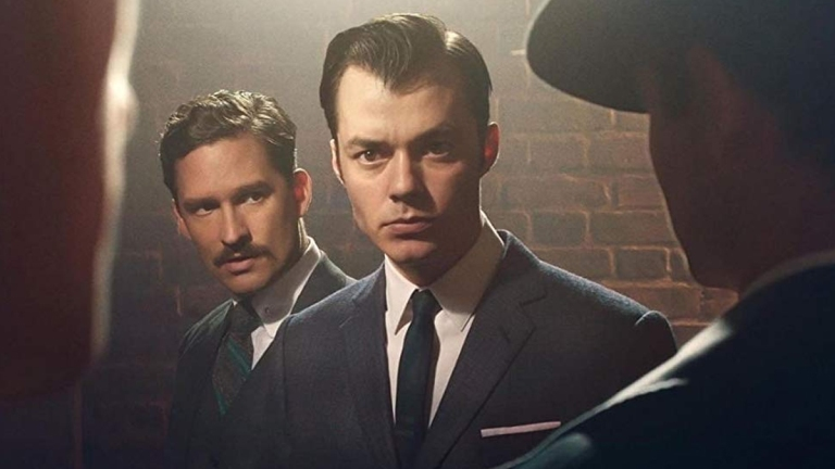 Jack Bannon and Ben Aldridge on Pennyworth; Epix