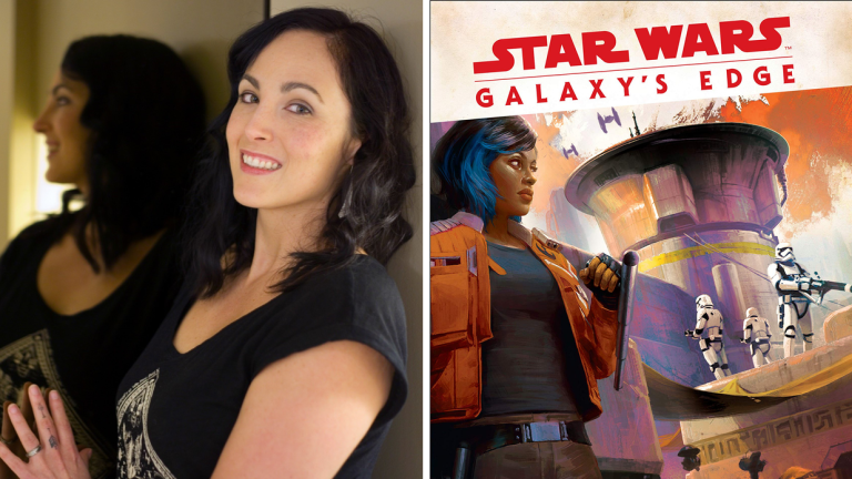 Author Delilah Dawson and the Cover of Star Wars: Galaxy's Edge Black Spire