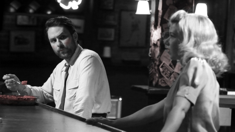 Charlie and the Waitress in a film noir