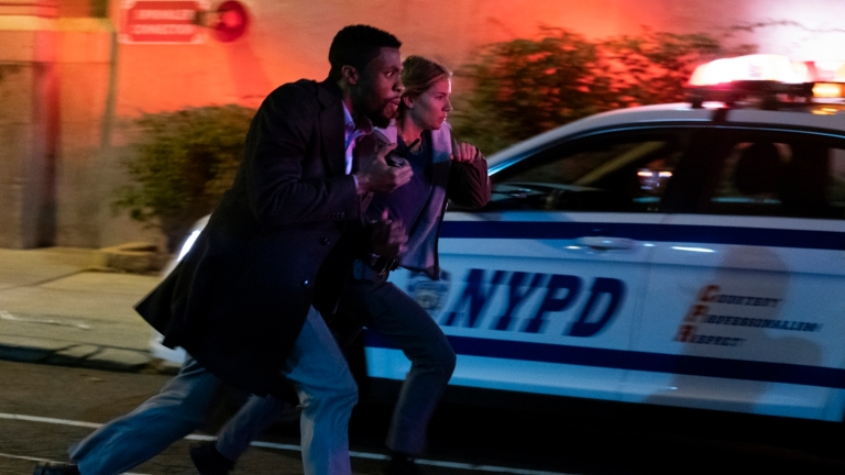 Chadwick Boseman and Sienna Miller in 21 Bridges