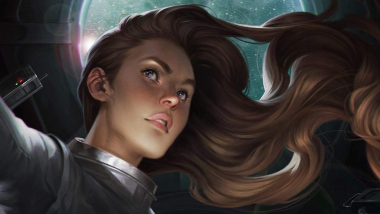 A Young Woman on the Cover of Brandon Sanderson's Starsight