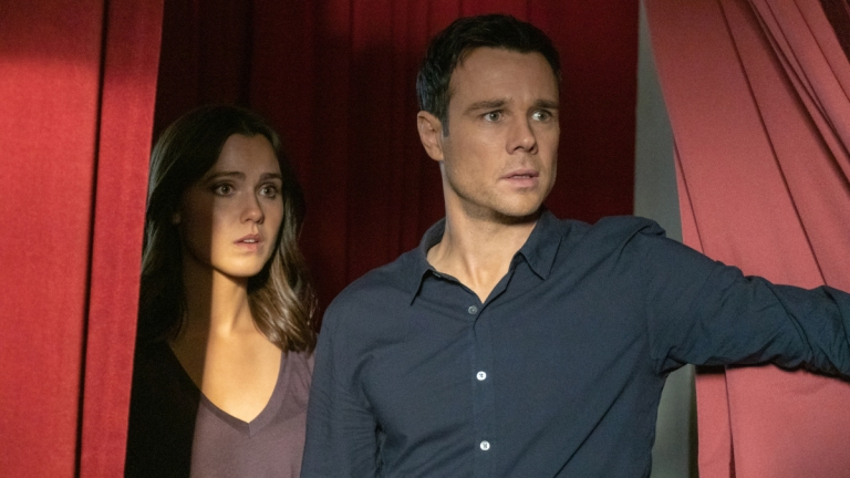 Poppy Drayton as Abigael and Rupert Evans as Harry in Charmed Season 2 Episode 5