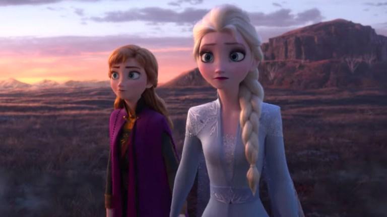 Elsa and Anna Enter Forest Frozen 2
