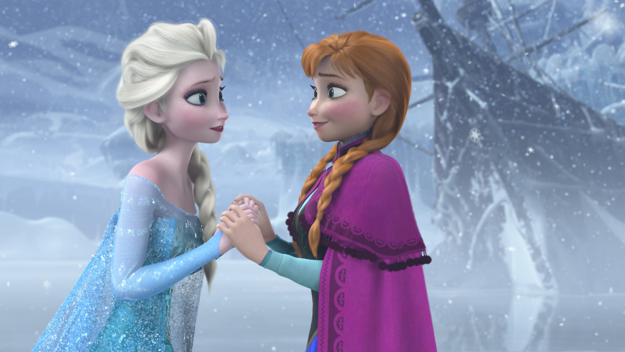 Elsa and Anna in Frozen (2013)